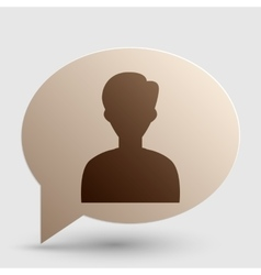 User avatar anonymous sign brown vector