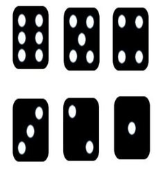 Black white dice vector
