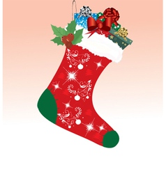 Christmas sock vector