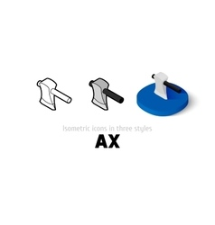 Ax icon in different style vector