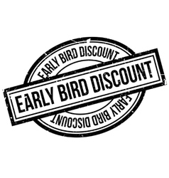 Early bird discount rubber stamp vector
