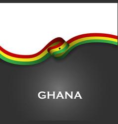 ghana sport style flag ribbon classic style vector image