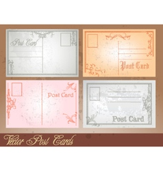 Postcard set vector