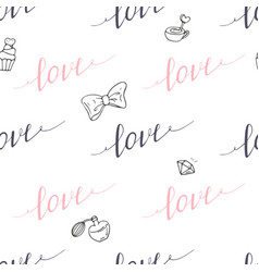 seamless pattern with hand drawn sign vector image