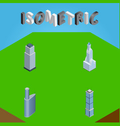 Isometric construction set of building apartment vector