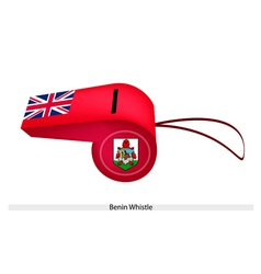 A beautiful red whistle of bermuda flag vector