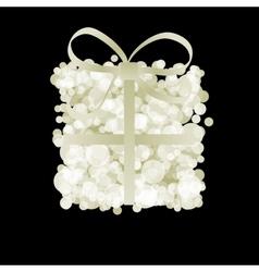 Elegant gift box with ribbon  EPS8 vector image
