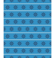 Seamless sea pattern blue wheel on light blue vector