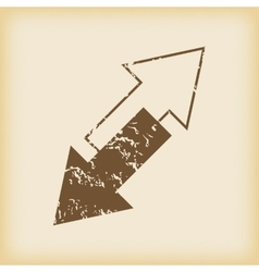 Grungy titlted arrows icon vector