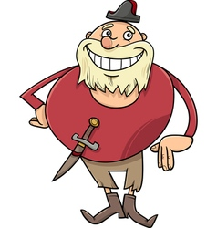 pirate character cartoon vector image