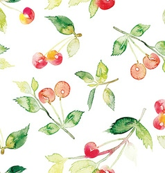 The seamless pattern cherries vector