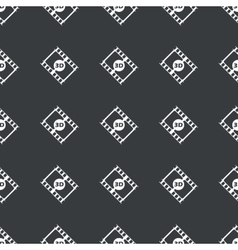 Straight black 3d movie pattern vector
