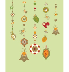Decorative wind chimes vector