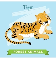 Tiger  forest animals vector