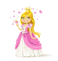 Cute fairy tale princess with a love potion vector