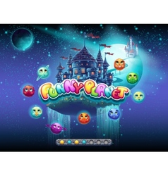 an example of loading screen for a computer game vector image vector image