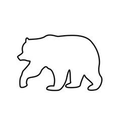 bear black color icon vector image vector image