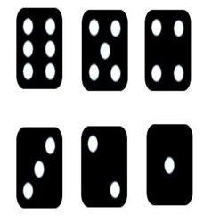 Black white dice vector
