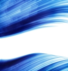 Blue abstract wave techno background vector image