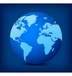 blue globe icon on blue background vector image
