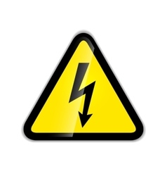 Bright high voltage icon with shadow isolated on vector