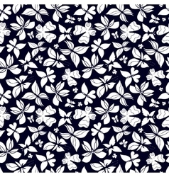 Butterflies pattern black and white vector