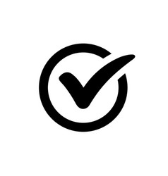 check mark icon vector image vector image
