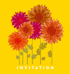 Chrysanthemum flower element vector