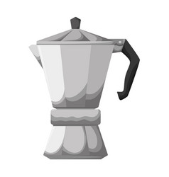 coffee kettle isolated vector image