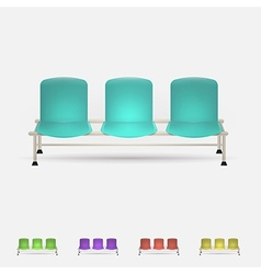 colored waiting benches vector image