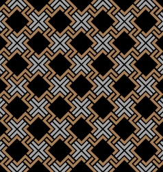 Dark seamless geometric pattern in celtic style vector