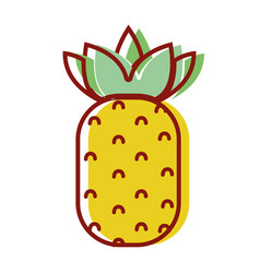 Delicious pineapple fruit to healthy life vector