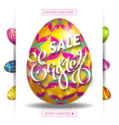 easter egg sale banner background template 30 vector image vector image