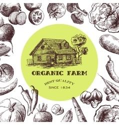 Eco farm sketch vector