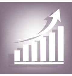 Growing graph icon vector image vector image
