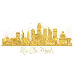 ho chi minh vietnam city skyline golden silhouette vector image