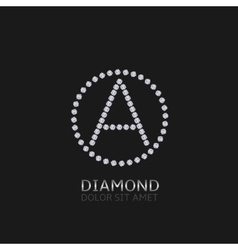 Letter A with diamonds vector image