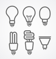 Light lamps icon collection vector image vector image