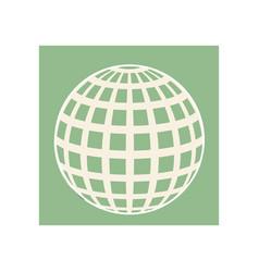 line globe icon symbol vector image
