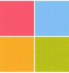 Liquid organic stripe grid pattern in multi color vector
