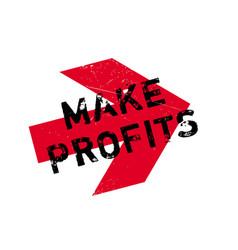 Make profits rubber stamp vector