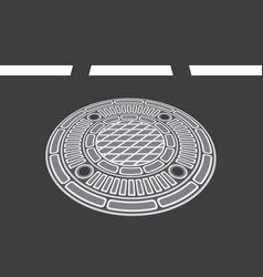Manhole cover vector