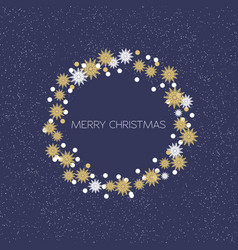merry christmas wreath new year decoration with vector image