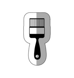 middle shadow sticker monochrome with paint brush vector image