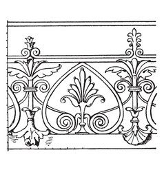 Modern french cresting border is found in cour de vector