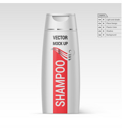 Plastic bottle shampoo vector