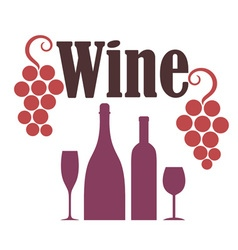 Red wine grapes vector