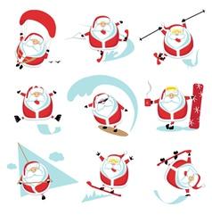 Santa extreme set1 vector image vector image