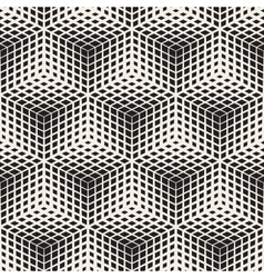 Seamless black and white halftone geometric vector