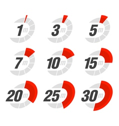 Set of timers vector image vector image